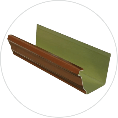 Copper Painted Rain Gutters