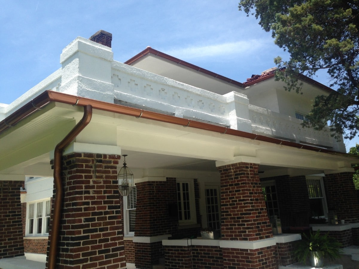 Copper Painted Gutters Metroplex Gutters